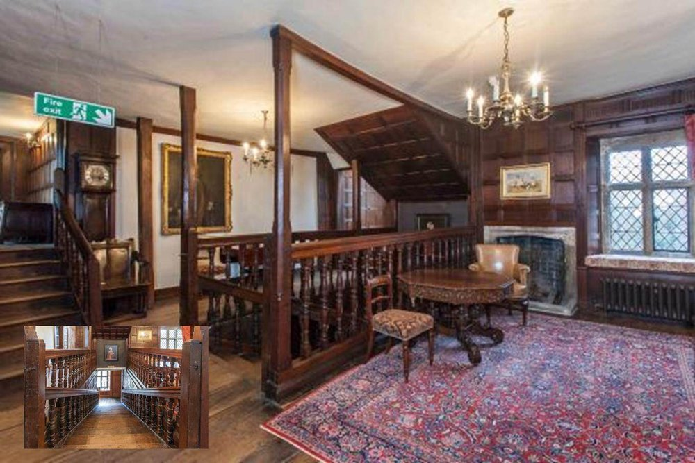 The Tapestry Gallery, where four staircases and six doors meet - it's easy to get lost!