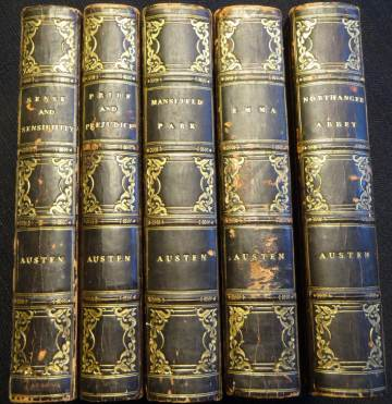 The first edition set of Jane Austen's novels, generously returned to Chawton House