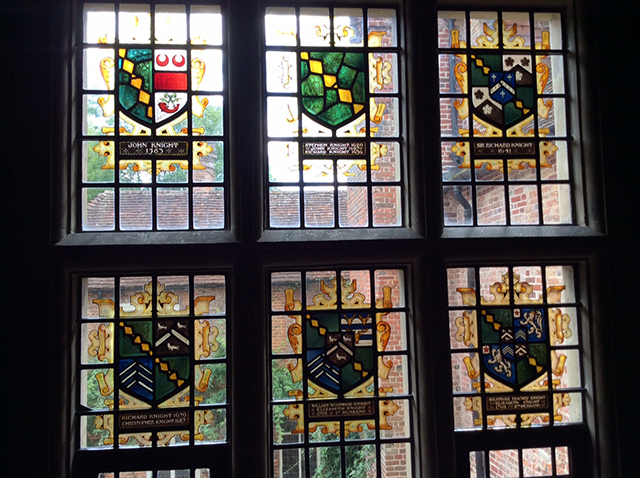 The first set of heraldic windows at Chawton House
