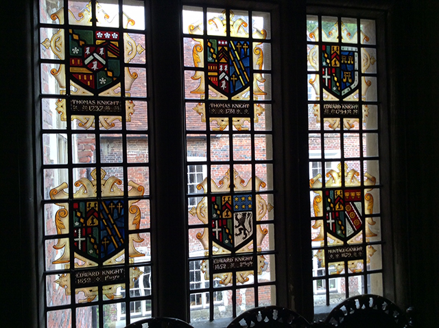 Second set of heraldic windows at Chawton House