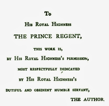 Jane Austen's dedication of Emma to the Prince Regent