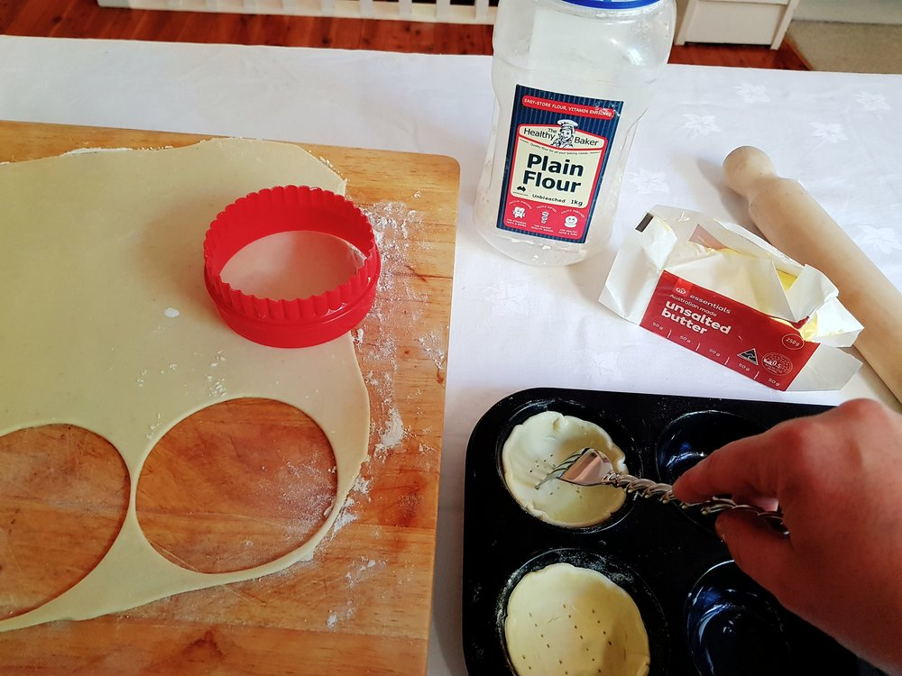Step 1: Roll and cut the pastry