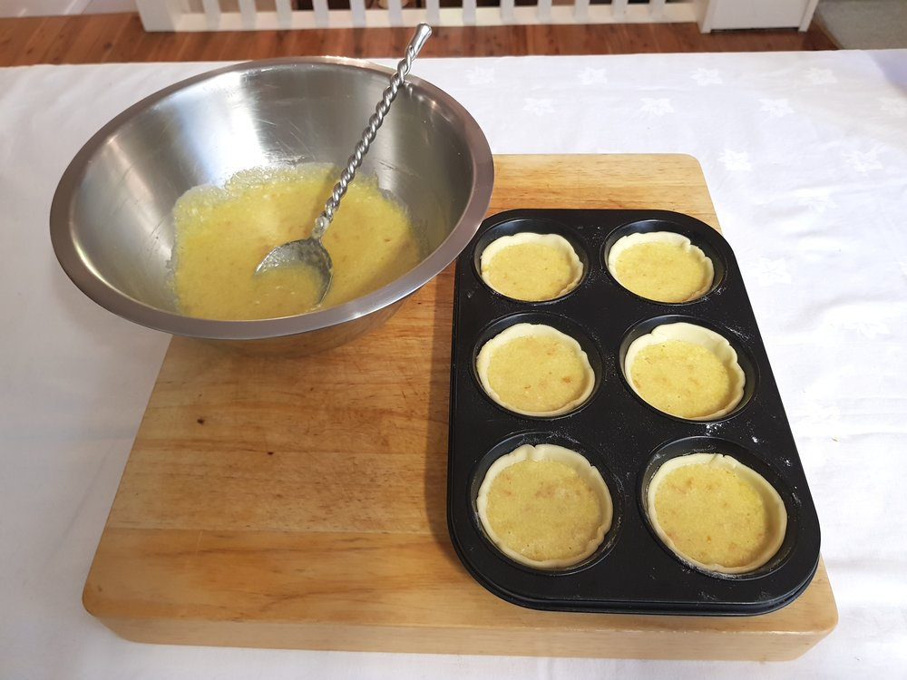 Step 7: Fill the pastry cases and bake for 20 minutes