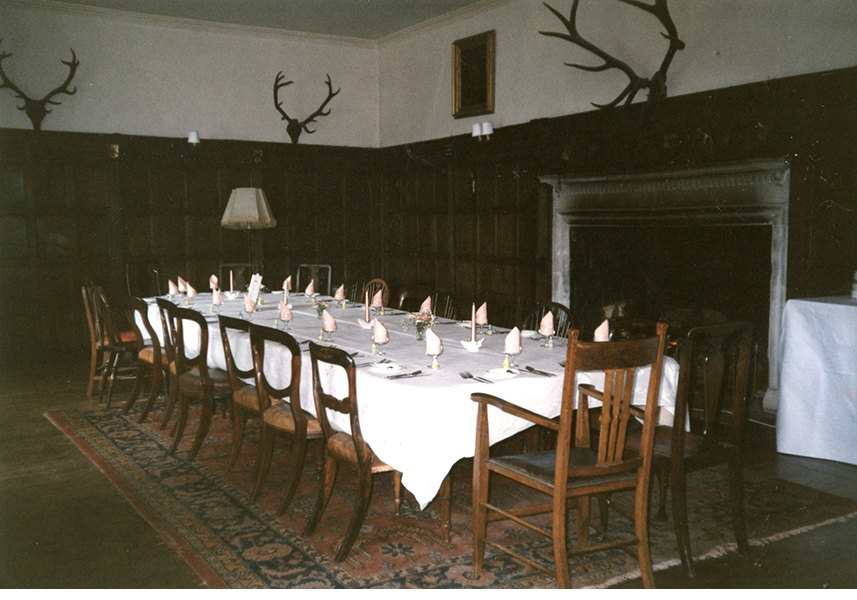 The Great Hall set for my 18th birthday dinner August 1988