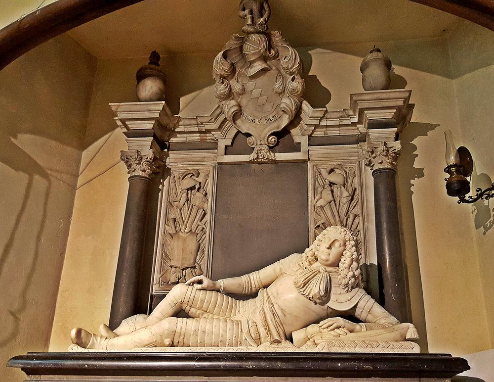 Sir Richard Knight (1639 - 1679) reclines in Chawton Church