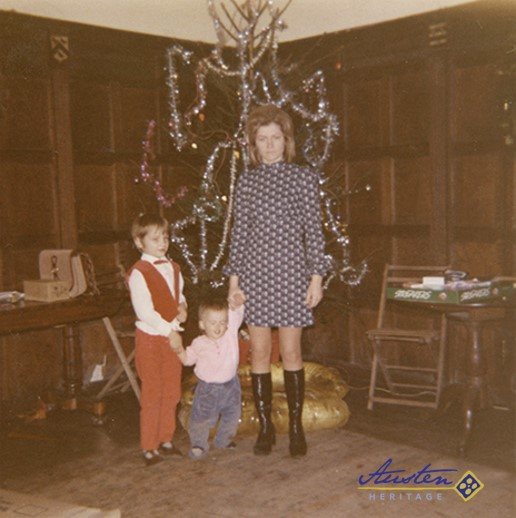 My wife, Carol, with our children, Paul and Caroline, in the Great Hall - 1971
