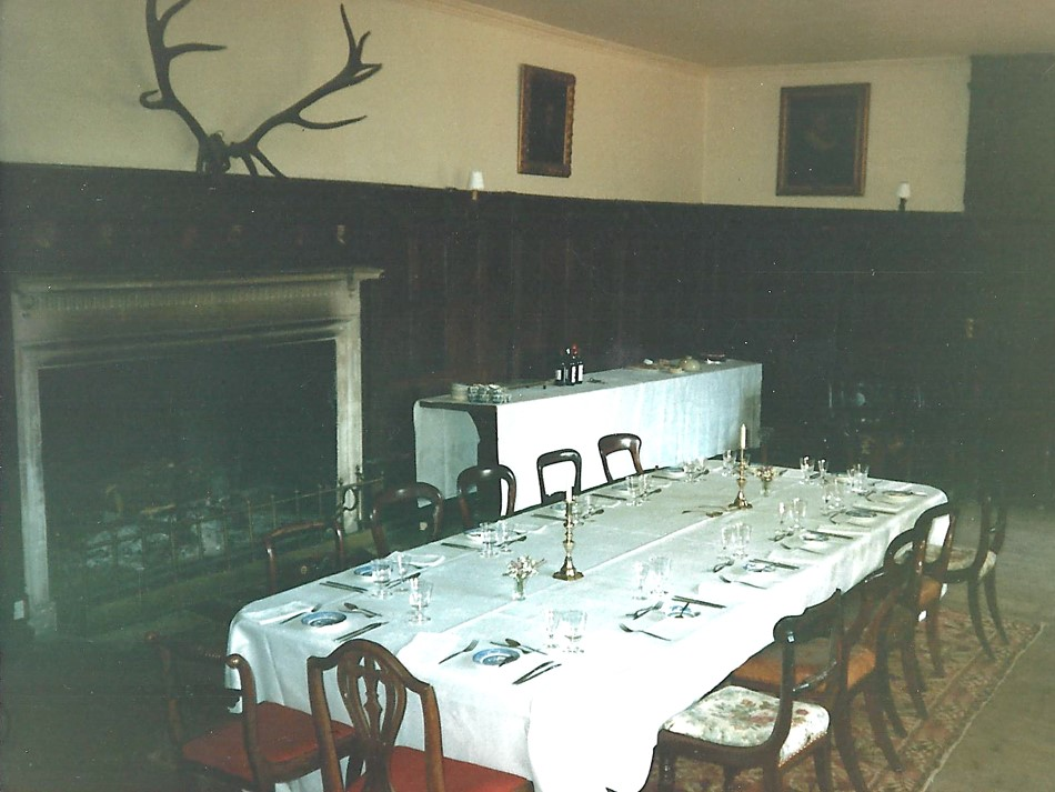 The Great Hall set for family lunch.   Photo copyright Jeremy Knight