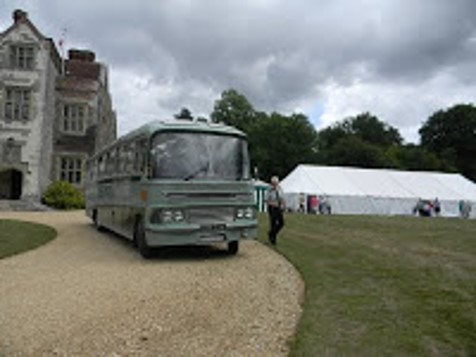 A coach has arrived for the Jane Austen Society of the UK annual AGM at Chawton House