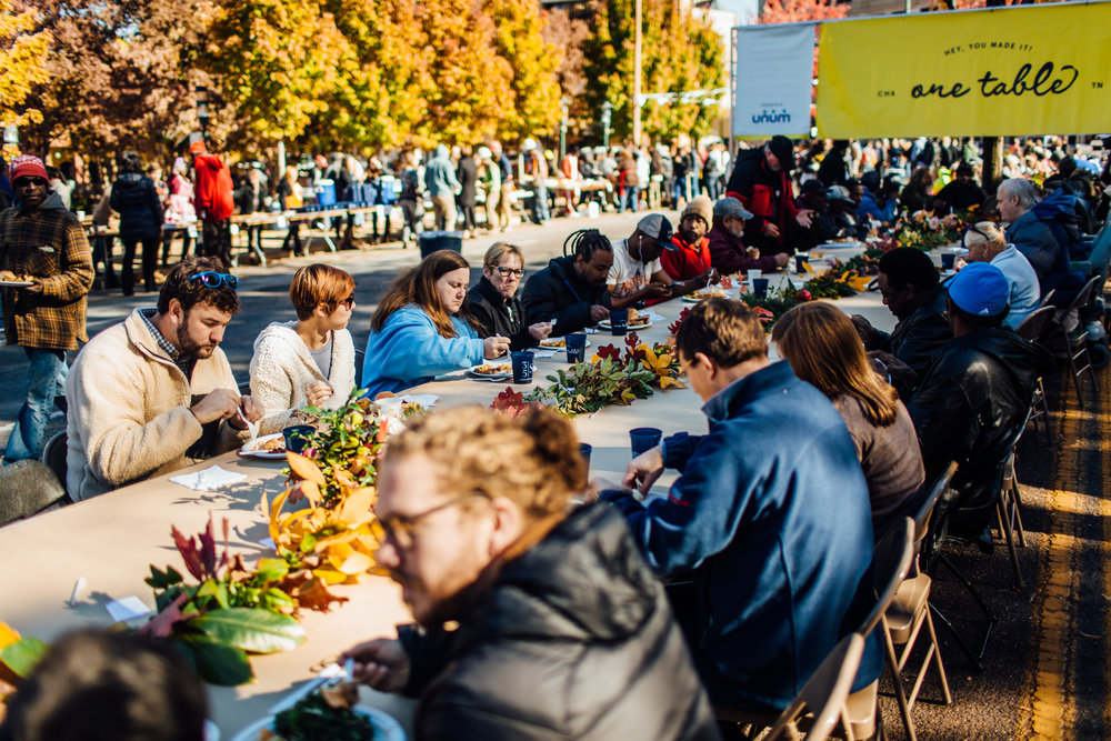 Chattanooga's One Table Event on Martin Luther King Street