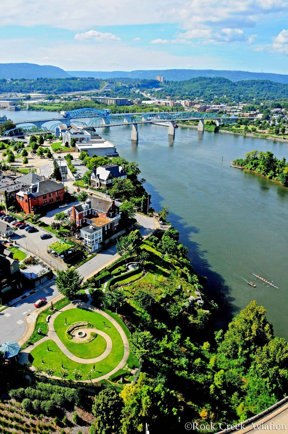 D owntown Chattanooga Aerial View