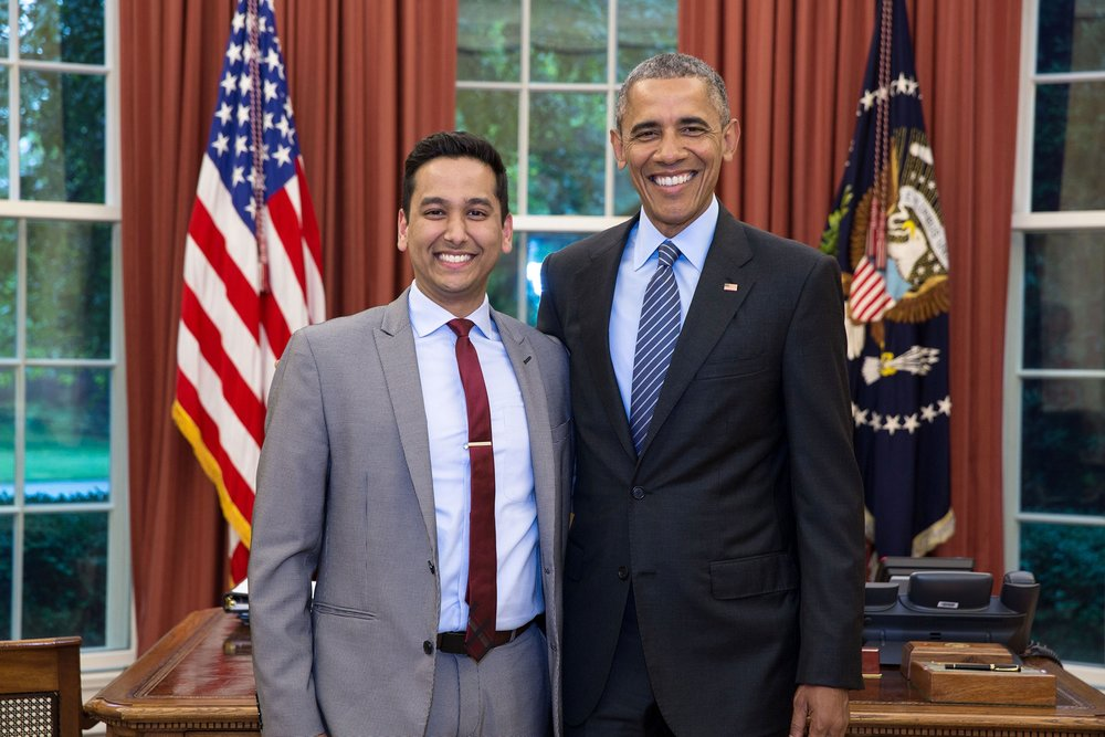 Ashwani Jain with President Barack Obama.