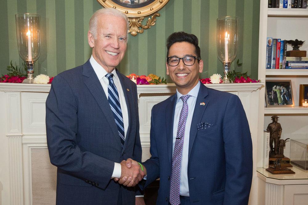 Ashwani Jain with Vice President Joe Biden.