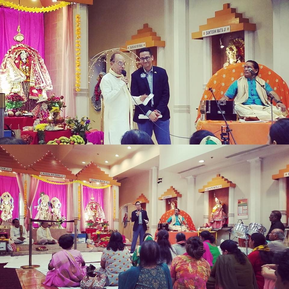 Ashwani celebrates Navrati at the Hindu Temple of Metropolitan Washington