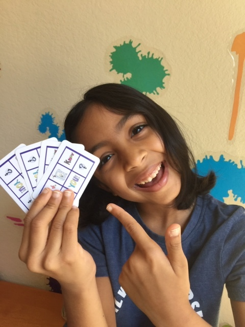 "Anjali - 7 yr. old, CEO of ""The Get to Know You"" Game, student at Magellan International School. Anjali was mentored by Britney Hicks, founder of Bright Angle."