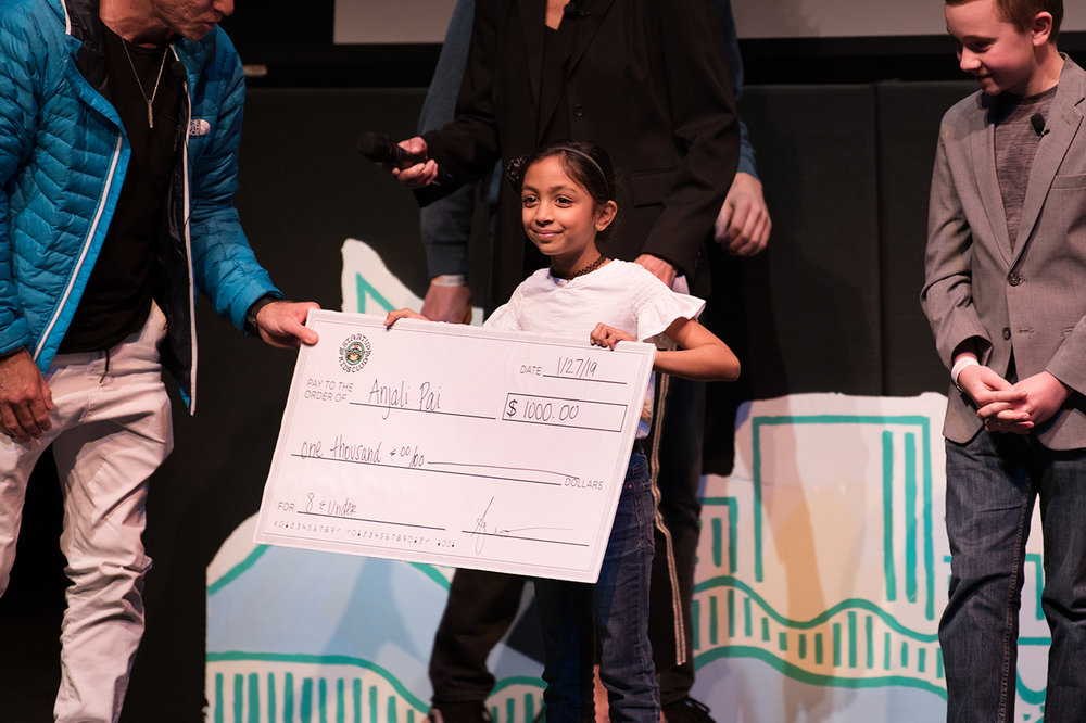 8 and Under - Anjali Pai, winner of $1,000