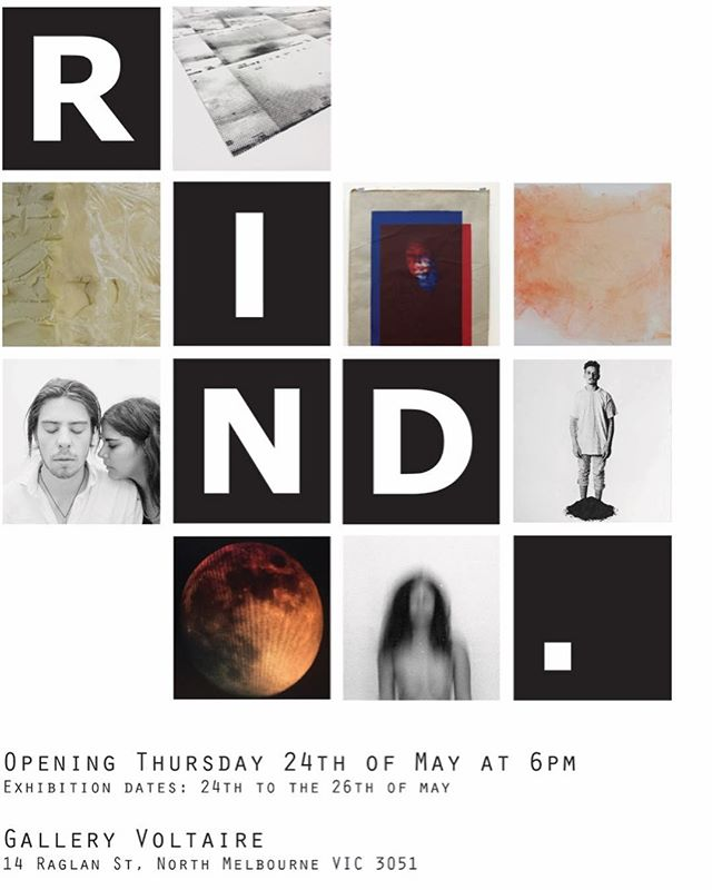 Come down and see the first every RIND collective show opening tonight.  It's on for only a limited time so make some moves !!