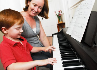 Boy Piano Student with Mother (Blog).JPG