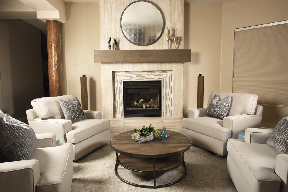 Custom Fireplace and mantel -