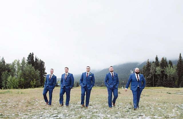 Have you ever seen a better looking group of groomsmen?  www.imageandivy.com . .#wedding #engagmentphotos #weddingphotographer #weddingphotography #photographer #calgaryweddingphotographer #yycweddings #weddingvendors #bridetobe #bride #weddingphotos #photography #capturingmoments #theknot #groom #engaged #canmore #imageandivy