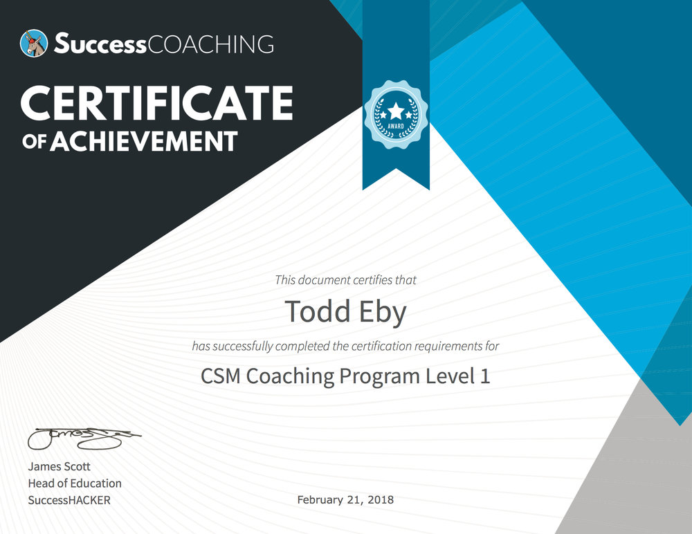 Successcoaching Customer Success Training  Certification