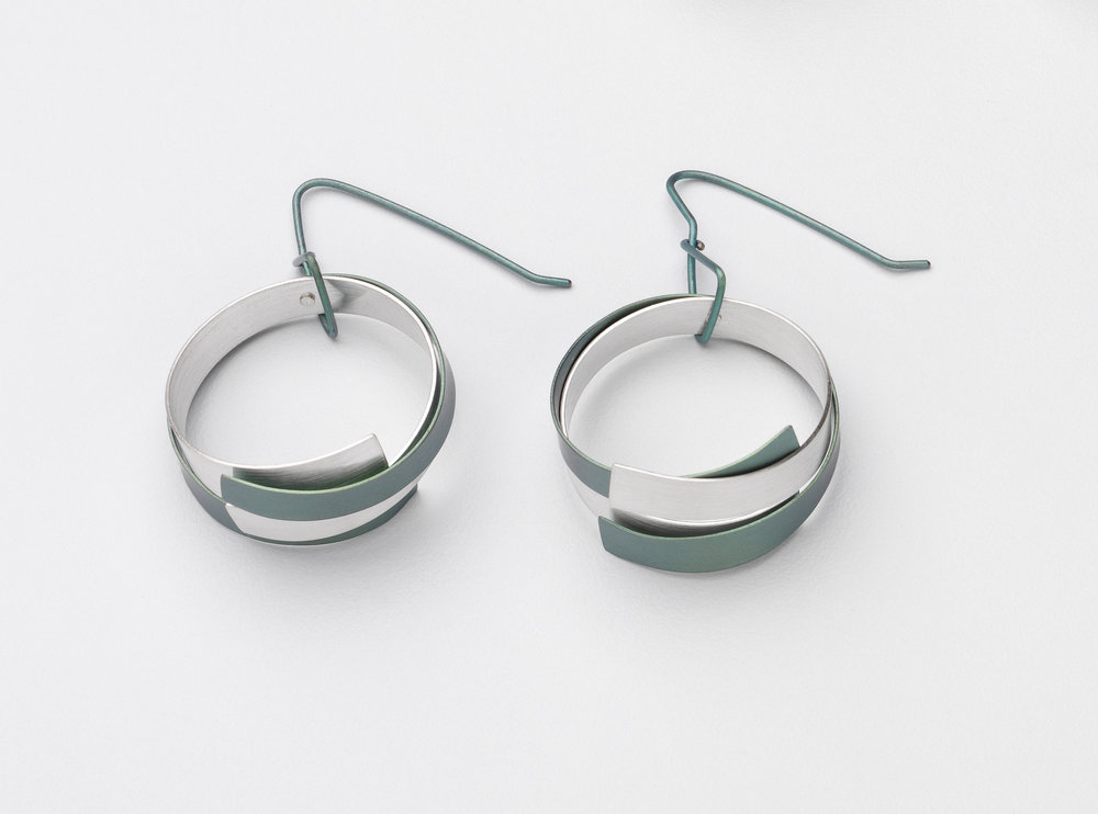 Loop Earrings Round Stg & Ti Green.jpg