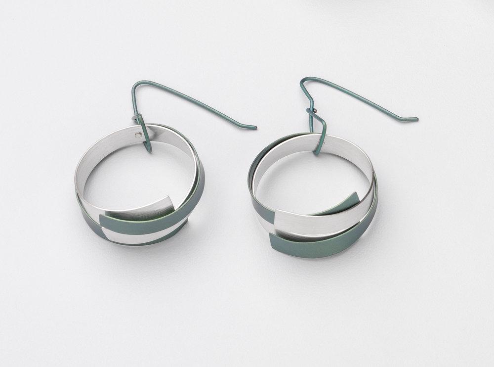 Loop Earrings Round Stg & Ti Green.jpg