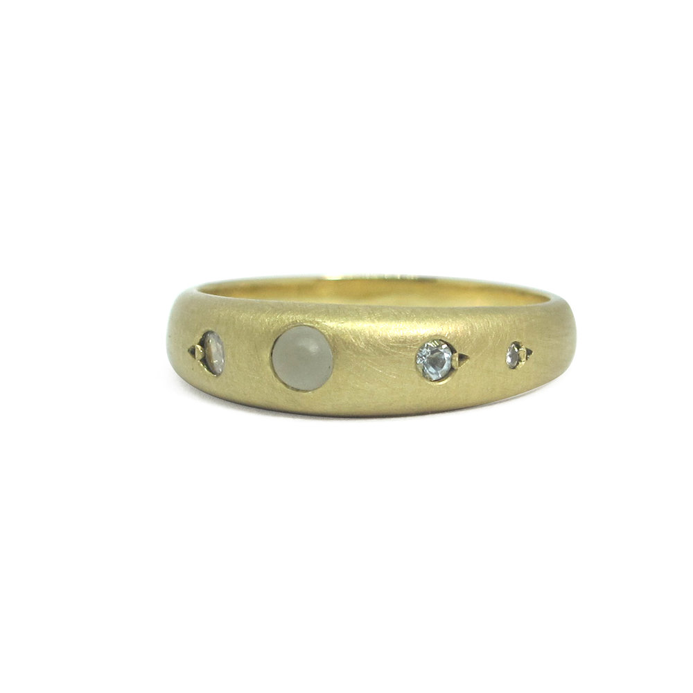 Melanie Ihnen aquamarine diamond ring