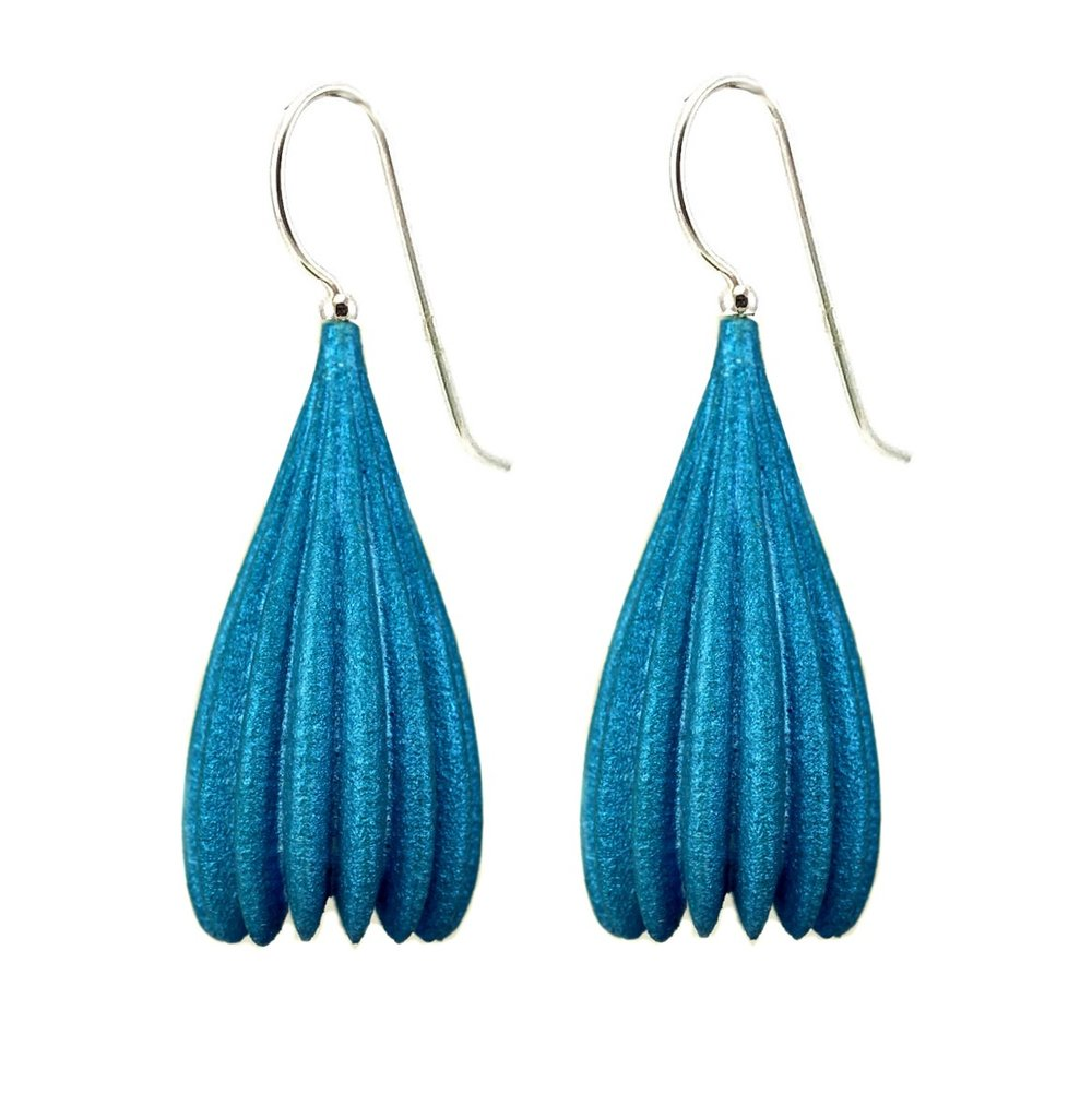Jenny Fahey Jewellery sls nylon 3d printed earrings