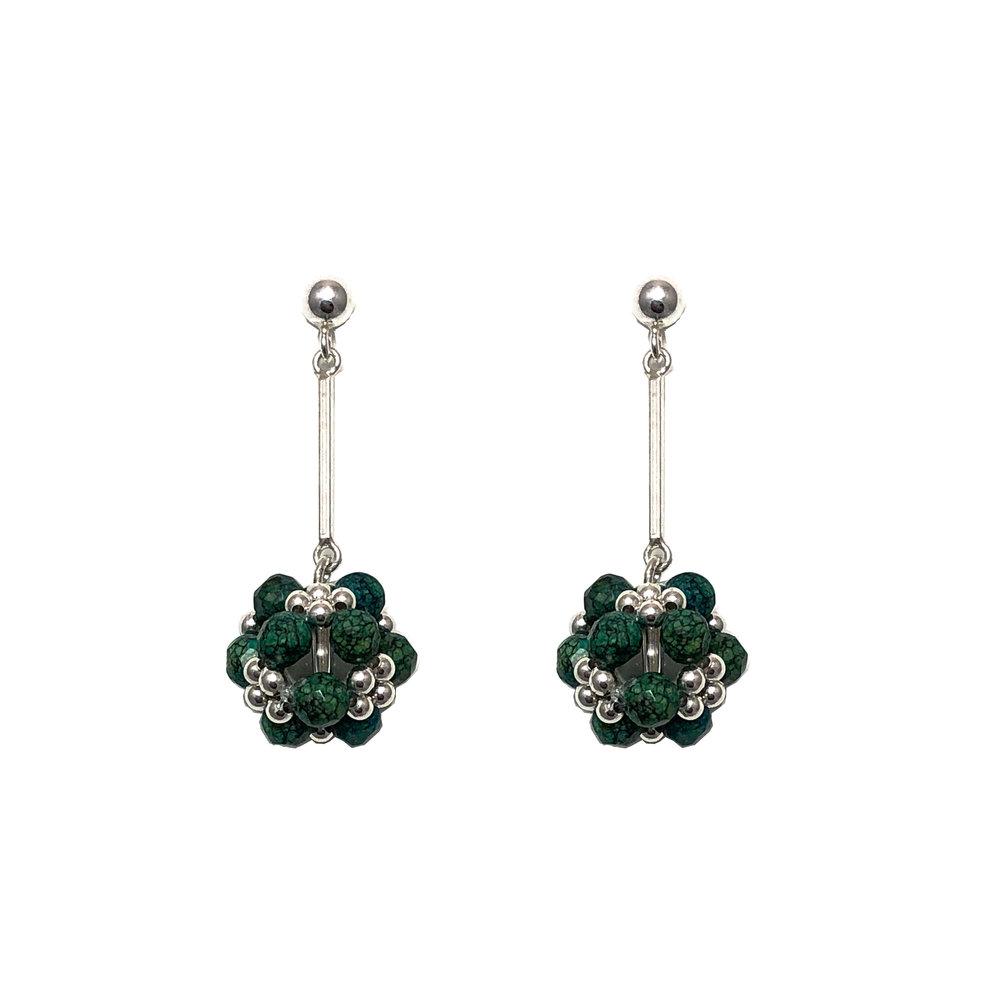 Jenny Fahey beaded gemstone earrings