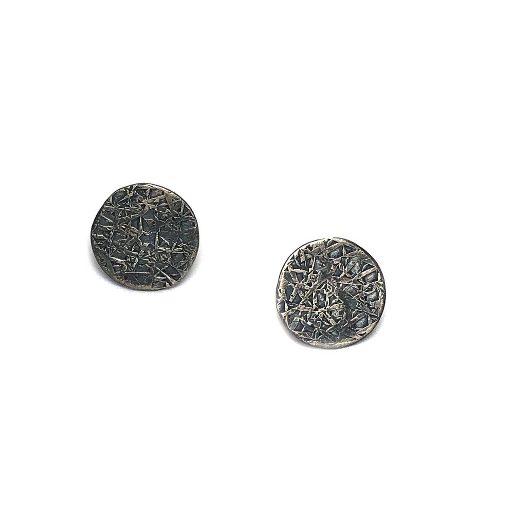 Blackened sterling silver studs