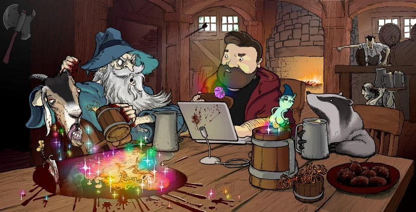 Hello From The Magic Tavern Illustration.jpg
