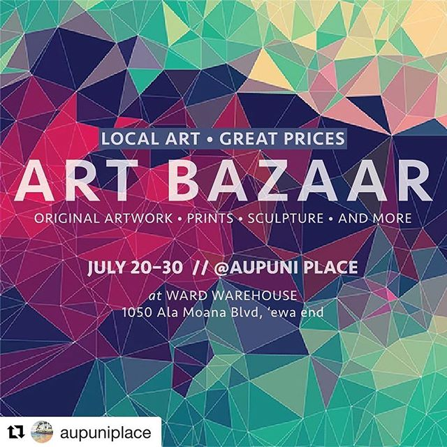 Along with the Universe of Islands Workshop there is an Art Bazaar! @aupuniplace is filled with amazing art at great prices. Start your local Hawaiian art collection right here! . . . #helumoa #helumoaart #helumoaartcollective #hawaiiart #hawaiiartists #hawaiiartistscollaboration #communityoutreach #artcollaboration #artistsofhawaii #honoluluart #art #artistsofinstagram #contemporaryart #islandlife #808art #workshoplife #stamps #printmaking #localart #universeofislandsworkshop #artbazaar #artforsale #artforsalebyartist #hawaiianartforsale #artcollectors