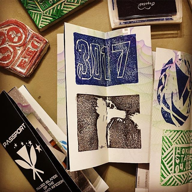 Create and fill a cosmic passport with these imaginative stamps ✈️✨ Helumoa will be hosting their Universe of Islands workshop 7/23  12-4pm @aupuniplace Workshop is free and keiki friendly😄 (link in bio for more details or DM us) About the workshop: A Universe of Islands explores the idea of nationalities and borders when their existence is more nebulous than ever. . . .  #helumoa #helumoaart #helumoaartcollective #hawaiiart #hawaiiartists #hawaiiartistscollaboration #communityoutreach #artcollaboration #artistsofhawaii #honoluluart #art #artistsofinstagram #contemporaryart #islandlife #808art #workshoplife #aupuniplace #stampart #printmaking #universeofislandsworkshop #contact3017 #contacthawaii