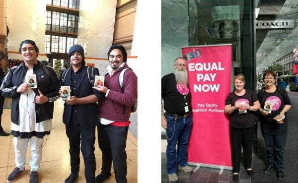 Left: Wellington supporters of Admin Appreciation Day. Right: Our Auckland PSA team giving out Admin thank you goodies