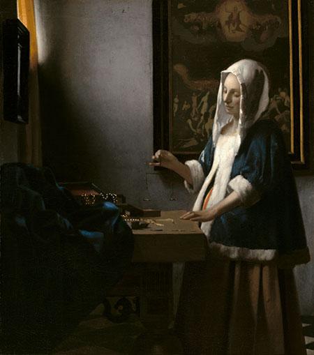 "Johannes Vermeer, ""Woman Holding a Balance,"" circa 1664."