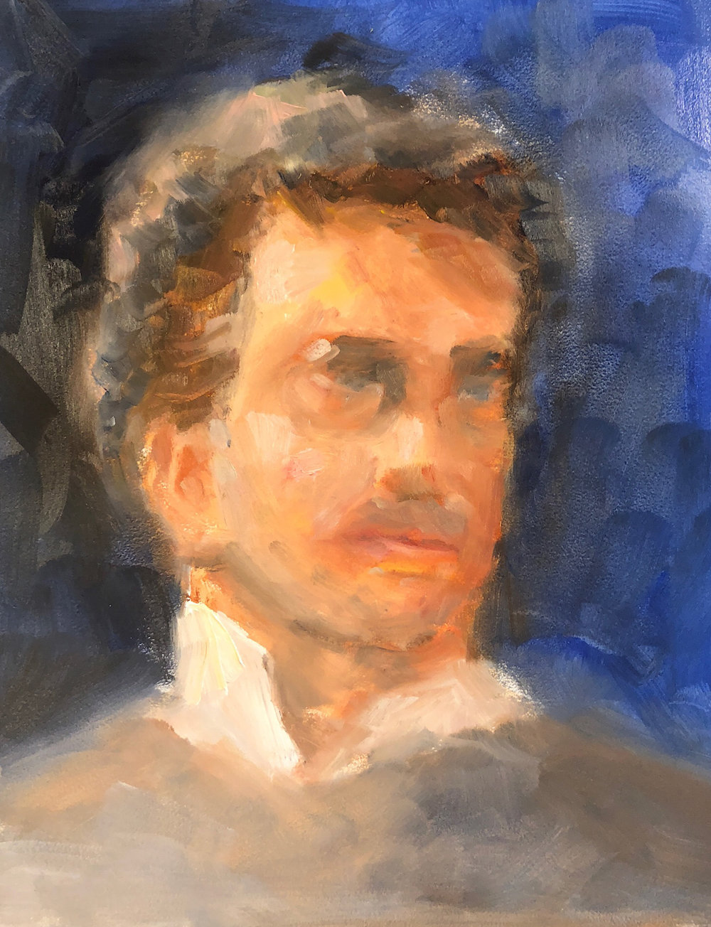 "Geoff Watson, ""Harry,"" oil on panel, 11"" x 14,"" 2018."