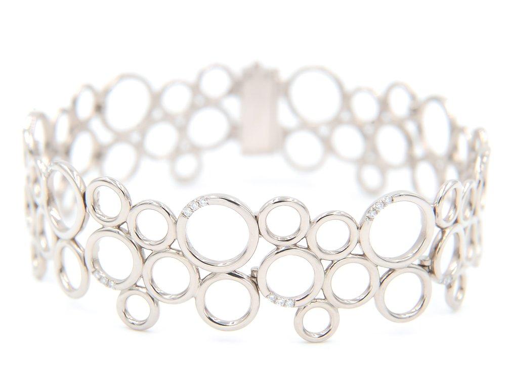 Circles All Around Bracelet | 18K white gold, diamonds