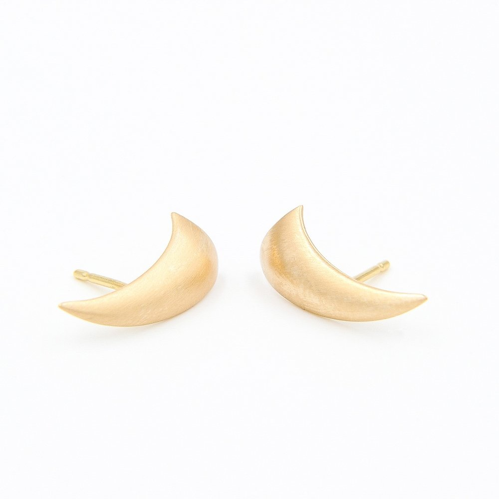 Leaf Earrings | 18K yellow gold