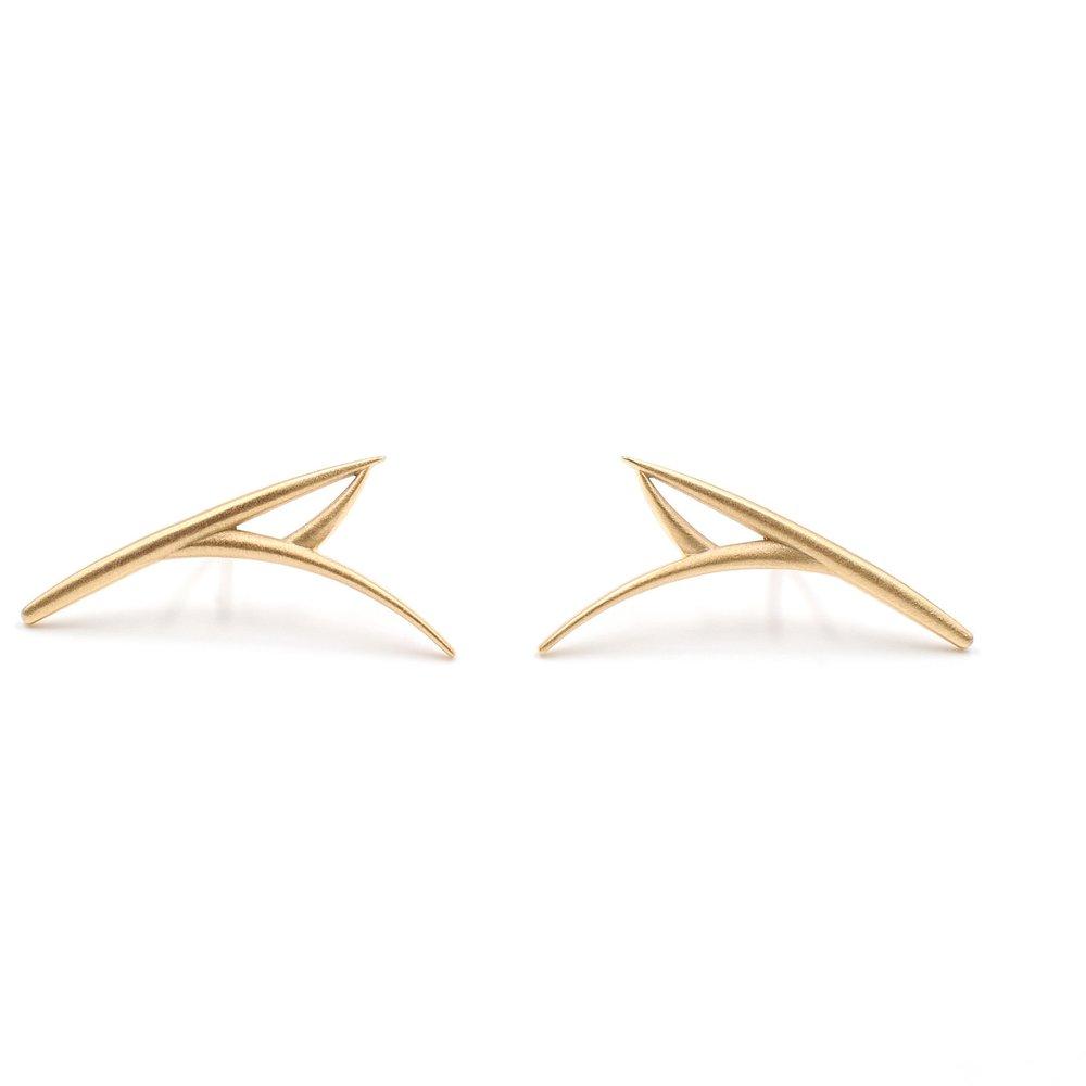 One Leaf Earrings | 18K yellow gold