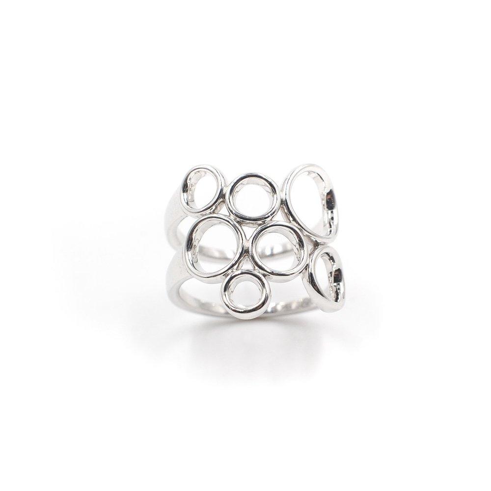 Bubbles Ring   18K white gold