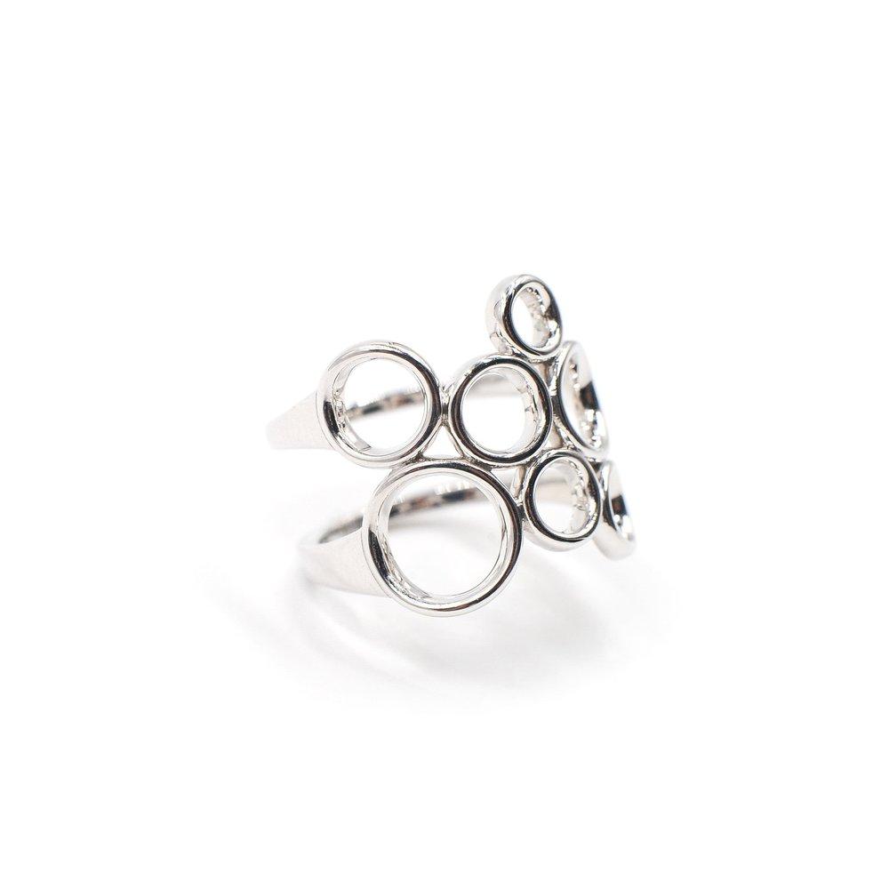 Bubbles Ring | 18K white gold