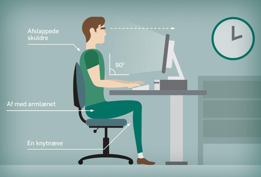 Undgå ondt i ryggen på din kontorplads