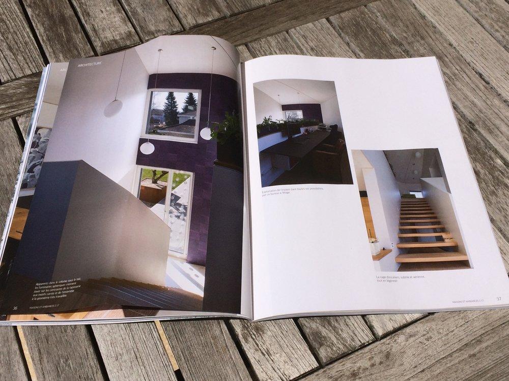 Maison minergie dans magazine maisons et ambiances