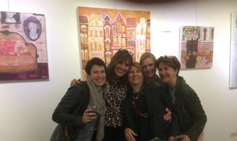 Visite des amies à l'expo à Bruxelles
