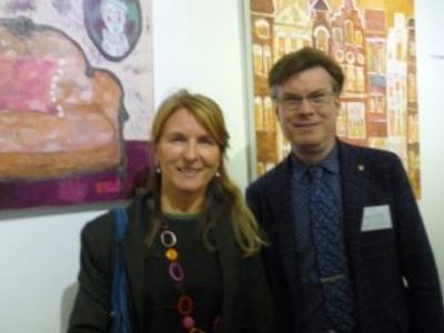 Avec directeur de la galerie J.Delfosse