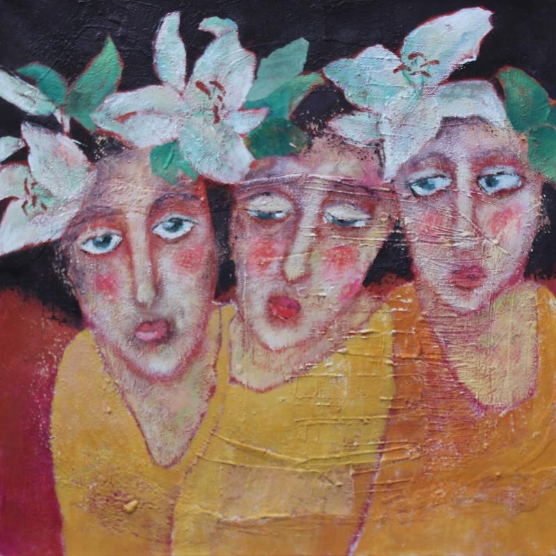 Flower girls II 60 x 60 Fr. 650.-