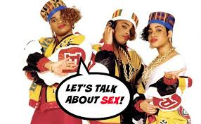 Promo Photo of Salt N Pepa w/Spinderella for single  Let's Talk About Sex