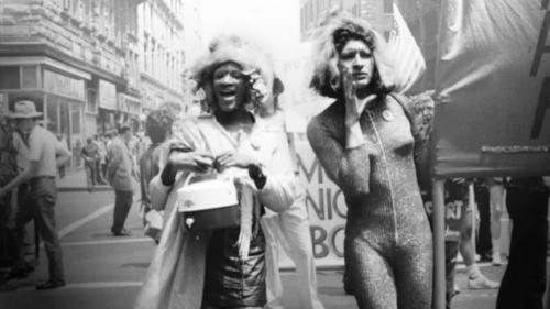 Marsha P. Johnson and Sylvia Rivera marching at the first Gay Pride. New York, 1970.
