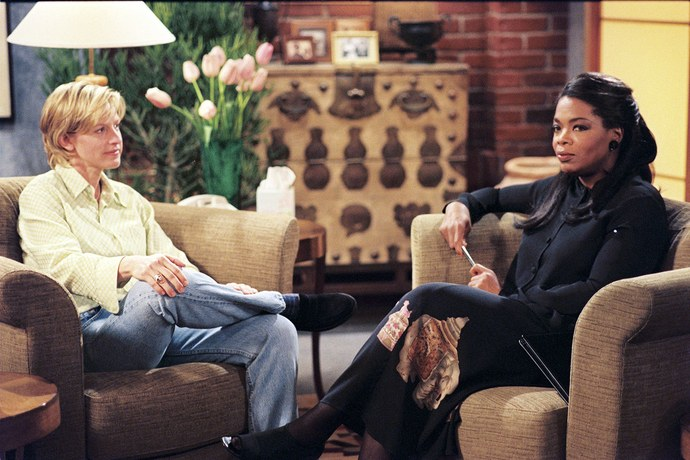 Ellen and Oprah on the sitcom  Ellen  1997 Photo Courtesy: Autostraddle