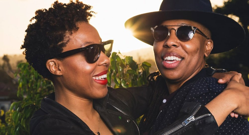 Lena Waithe with girlfriend Alana Mayo.  Photo credit: Vimeo